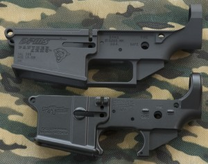 CMMG AR-15 and DPMS LR-308 Stripped Receiver Side View
